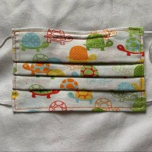 Handmade Orange Turtle Non-Surgical Kid Mask